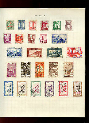 Morocco Album Page Of Stamps #V4986