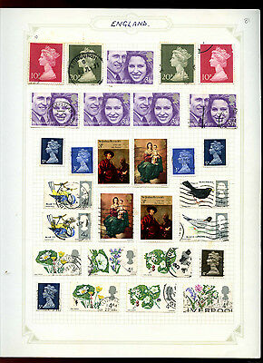 GB Album Page Of Stamps #V5179