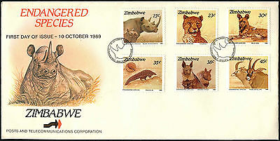 Zimbabwe 1989 Endagered Species FDC First Day Cover #C42086
