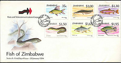 Zimbabwe 1994 Fishes FDC First Day Cover #C42106