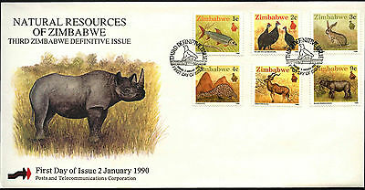 Zimbabwe 1990 Wildlife FDC First Day Cover #C42084