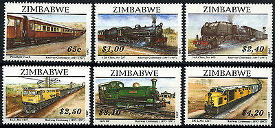 Zimbabwe 1997 SG#954-9 Railways, Locomotives MNH Set #D50834