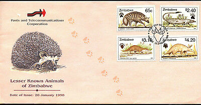 Zimbabwe 1998 Lesser Known Animals FDC First Day Cover #C42097