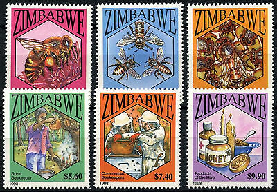 Zimbabwe 1998 SG#964-9 Bees, Bee Keeping MNH Set #D50830