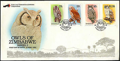 Zimbabwe 1993 Owls FDC First Day Cover #C42126