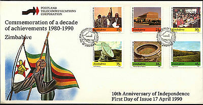 Zimbabwe 1990, 10th Anniv Of Independence FDC First Day Cover #C42090