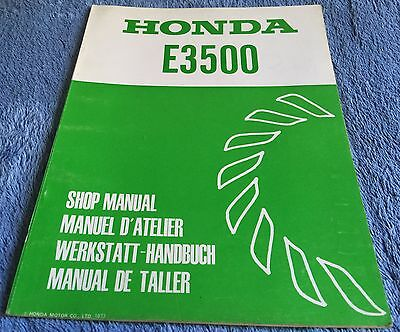 HONDA E3500 - GENERATOR SHOP MANUAL - Genuine Factory Manual - 1977