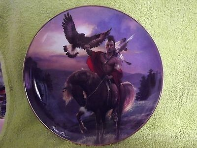 Fine Porcelain Franklin Mint Native American Plate - SPIRIT OF THE EAST W + Cert