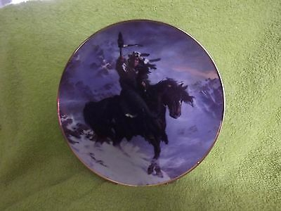 Fine Porcelain Franklin Mint Native American Plate - SPIRIT OF THE WEST W + Cert