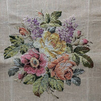 Stunning LARGE Tramme Tapestry KIT Flowers - Made in Denmark by O.OEHLENSCHLÄGER