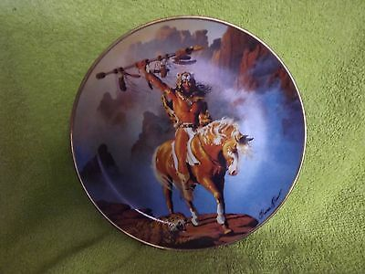 Fine Porcelain Franklin Mint Native American Plate - SPIRIT OF THE south + Cert