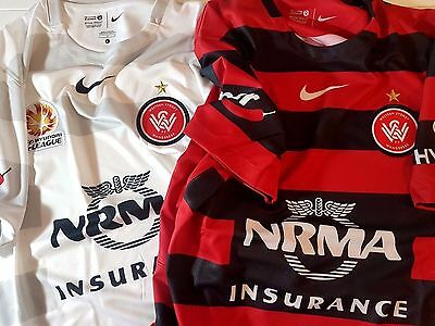 WESTERN SYDNEY WANDERERS NIKE Jersey Shirt Official Soccer Football Kit RRP$90