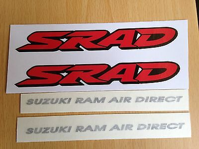 Suzuki SRAD SUZUKI RAM AIR DIRECT Stickers Motorbike Motorcycle Vinyl Decals x2