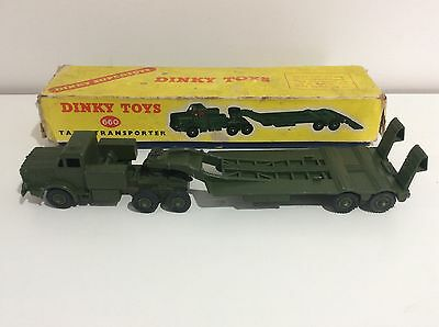 Rare DINKY TOYS 660 Mighty Antar Tank Transporter. Boxed.