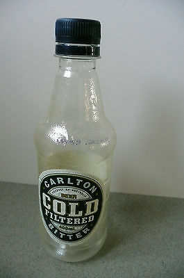 1990's ? CARLTON COLD Filtered Bitter PLASTIC 400 ml Stubby empty