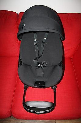 Quinny Moodd pushchair SEAT UNIT - all black devotion (hood, shell and cover)