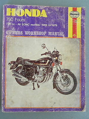 Honda Cb750 Fours All Models Fitted With Sohc Workshop Manual 1969/1979