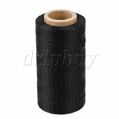 200Meter 1mm 150D Black Leather Sewing Flat Waxed Polyester Thread Cord DIY Tool