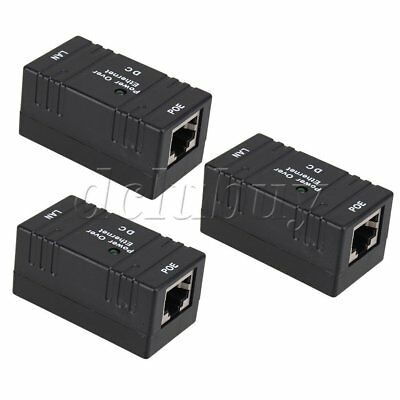 Passive POE Injector DC 9 - 48V / 1A Supply Module For Internet telephony 3pcs