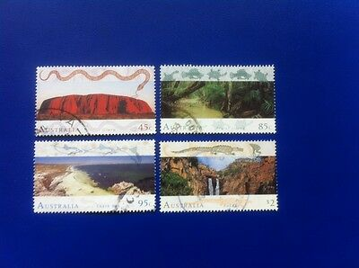 Australia 1993 - World Heritage Sites - 4 EXTREMELY Very Fine Used  stamps