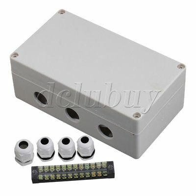 Grey White 12 Bit Underground Junction Box & Waterproof Connector 1 to 3