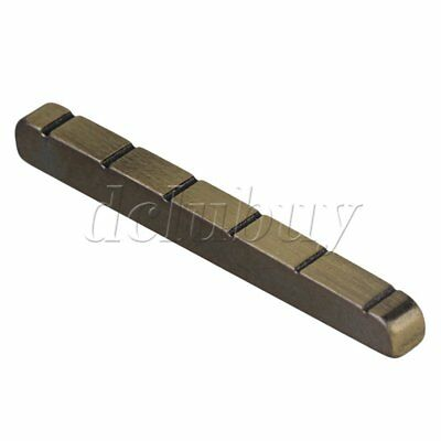 Metal 6 String Guitar Slotted Nut Replacement for Electric Guitar Bronze