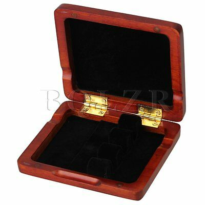 Beautiful Solid Wooden Bassoon Reed Case for 3 Reeds Hold Amber Color New