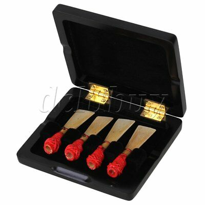 94x84x22mm Black Wood 4 Bassoon Reeds Case Storage Protect Against Moisture