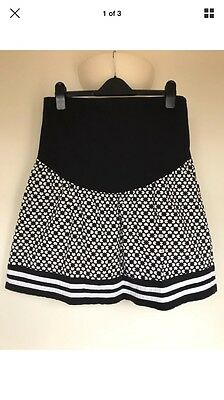 JoJo Maman Bebe Maternity Size 8 Over Bump Tile Print Skirt