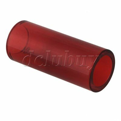 Red High Boron Glass Slide Tube Finger Knuckle for Guitar 2.8x2x6.7cm