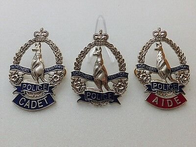 Northern Territory Police set of 3 obsolete replica badges Not Fire Rescue