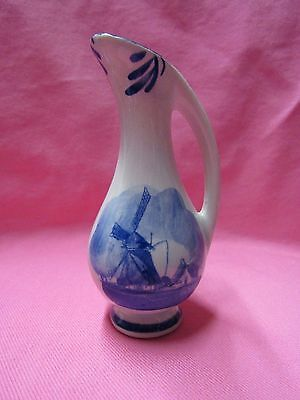 Delft Blue Hand Painted Pottery  Bud Vase Vases