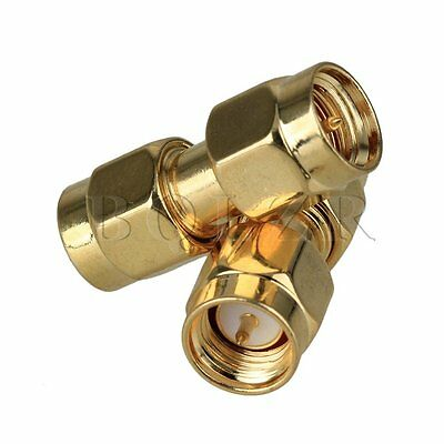 4PCS 20x10mm SMA Male Plug Straight RF Coaxial Connetor Double-Pass Adapter