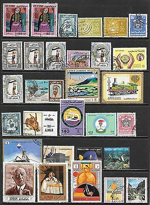 MIDDLE EAST Mint and Used Issues Selection #1 Many with Postal Use (Jun 0113)