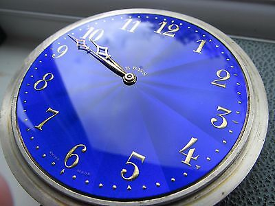 Vintage large Brevet blue faced 8 day car clock