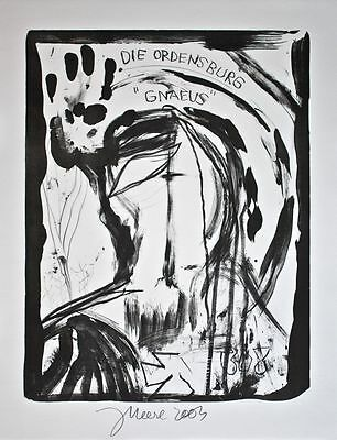 """Jonathan Meese - Die Ordensburg """"Gnaeus"""" - Lithographie - 2003"""