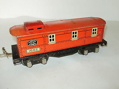 Lionel O Gauge Caboose. Good overall condition. Signs of wear and tear. No box