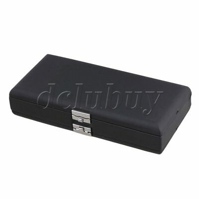 Elegant Black PU Leather Oboe Reed Box for 40 Reeds with Soft Flannel