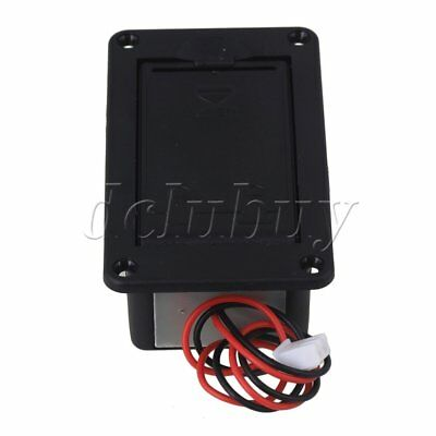 Black 9V Plastic Battery Box Holder for Guitar Bass with Wire Connection
