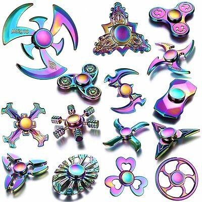 Colorful 3D Hand Spinner Fidget Finger EDC Gyro Anti-Stress Kids/Adult Focus Toy