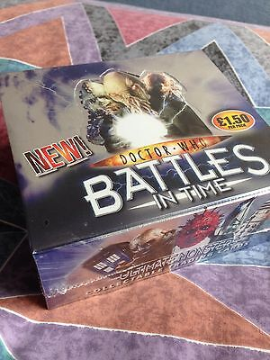 Dr Doctor Who Ultimate Monsters Battles In Time Sealed Mint Box 32 Pkts rrp £48