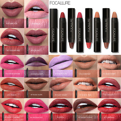 19 Colors FOCALLURE Matte Lipstick Pen Waterproof Lasting Lip Gloss Cosmetic New
