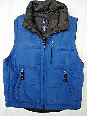 GAP KIDS Boy's Winter Blue Polyester Outerwear Puffer Vest Size Medium 8