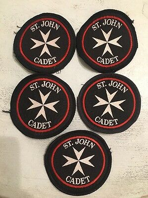 St John Ambulance 5 x Cadet Patches