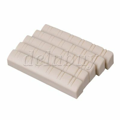 4.8x0.6x0.9cm Beige Plastic Nut for 12 String Classic Guitar Pack of 5