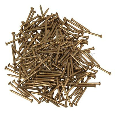 200Pieces Furniture Round Head Archaize Pure Copper Nail 18 x 2.8mm Brass