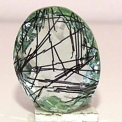 GORGEOUS BLACK NEEDLE DOUBLET RUTILE OVAL CABOCHON LOOSE GEMSTONES 33.00Cts.