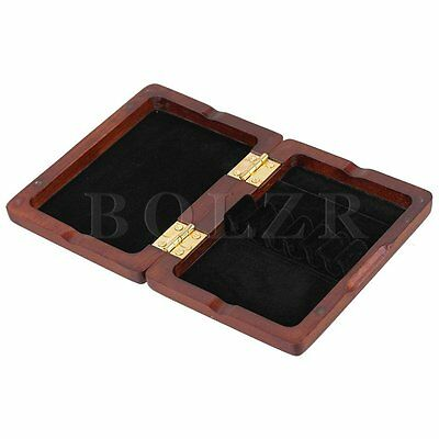 Maroon Wooden Oboe Reed Case Storage for 6 Reeds with Magnetic Closure