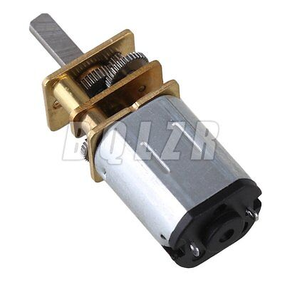 GA12-N20 Metal DC12v Silver Mini 100RPM Speed Gear Electric Motor Gearwheel