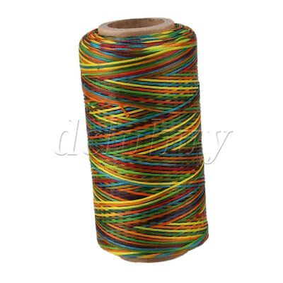 150D 1mm Multicolor Waxed Wax Thread Cord Sewing for DIY Leathercraft 250 Meter